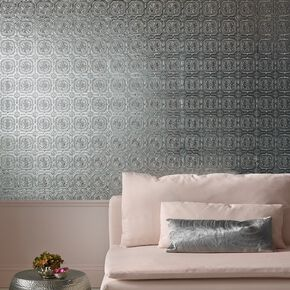 Metallic Tile Wallpaper , , large