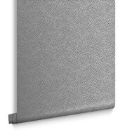 Chevron Texture Silver Wallpaper, , large