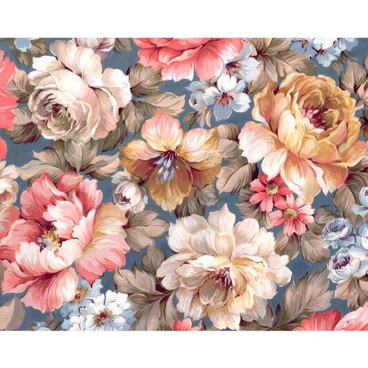 Couture Painterly Floral Ready Made Mural, , large
