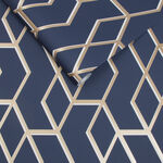 Archetype Navy & Gold Wallpaper