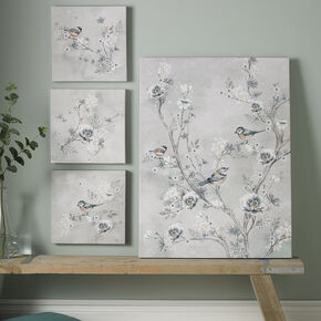 Beautiful Birds Printed Canvas Wall Art, , large