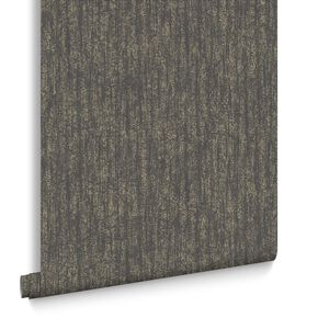 Devore Charcoal & Champagne Behang, , large