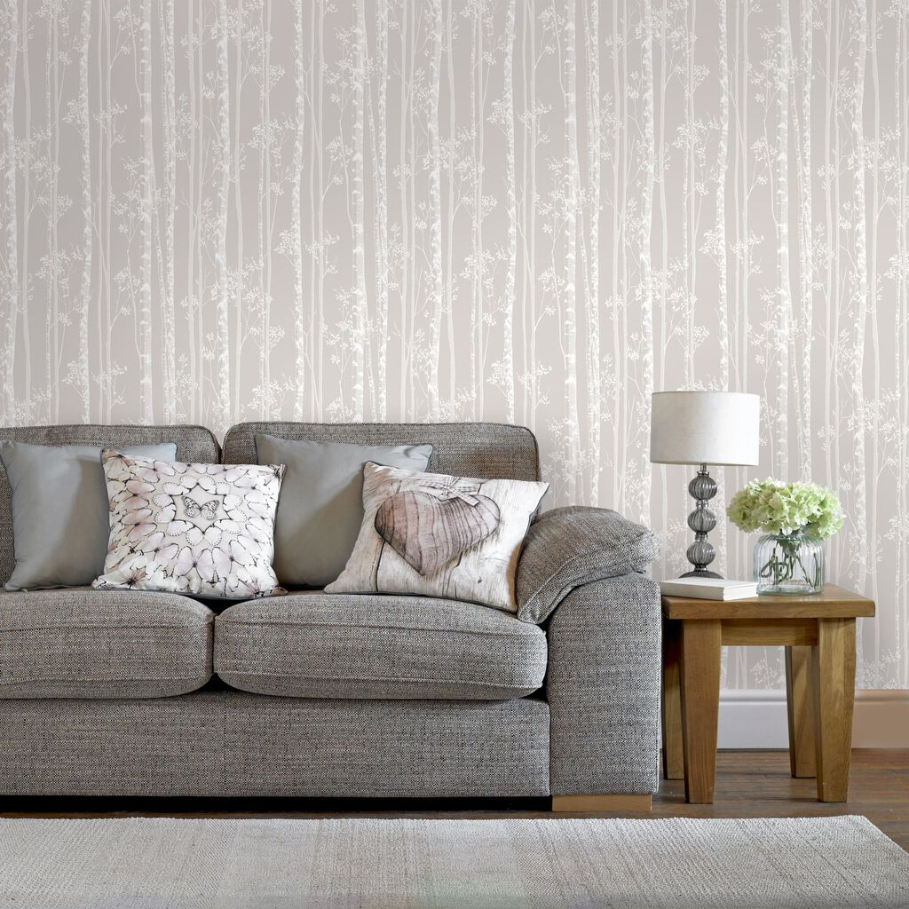 Linden Beige and White Wallpaper | Graham & Brown