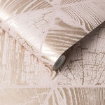 Geo Grain Blush & Rose Gold Wallpaper