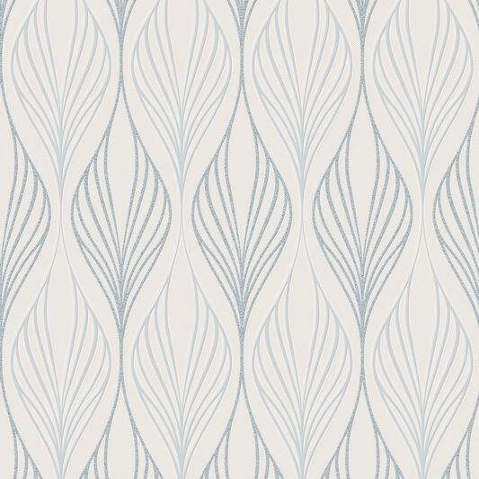 Optimum White and Duck Egg Wallpaper, , large