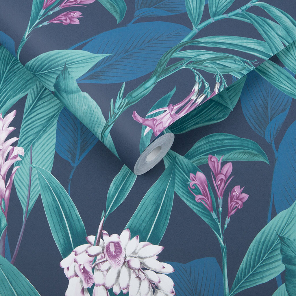 Botanical Midnight Wallpaper, , large