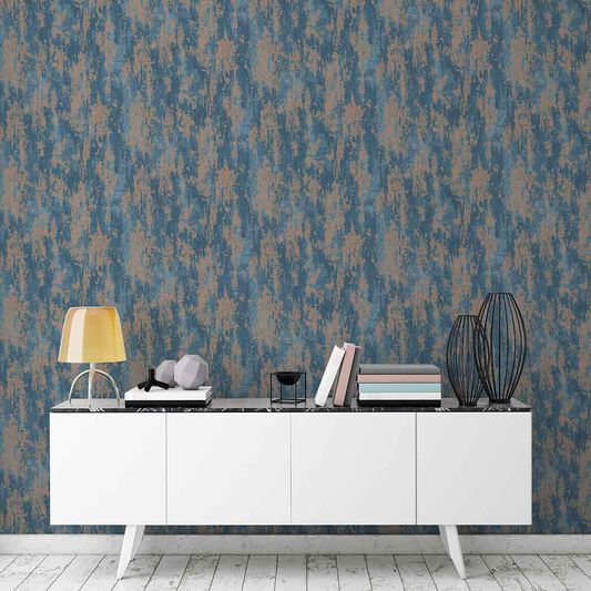 Industrial Texture Turqouise Wallpaper, , large