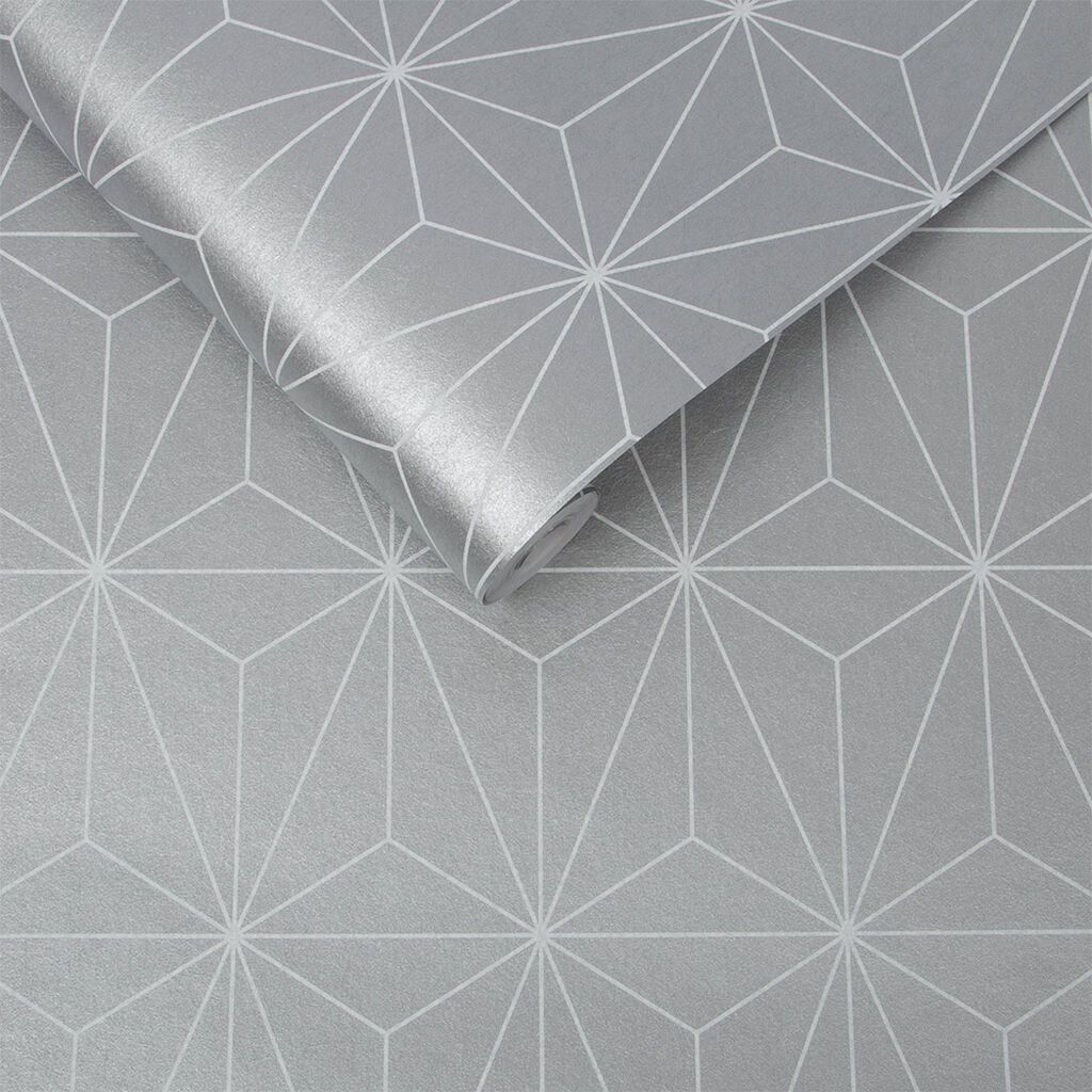 Prism Silver Wallpaper, , large
