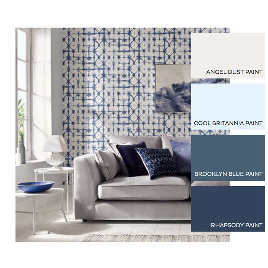 Indigo Blue Wallpaper, , large