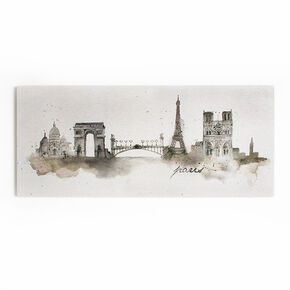 Paris Watercolour Printed Canvas Wall Art, , large