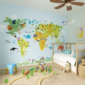 The Whole Wide World Wall Ready Made Mural, , large