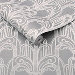 Art Deco Silver Wallpaper