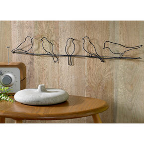 Birds On A Wire Metal Wall Art, , large