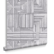 Labyrinth Grey Wallpaper, , large