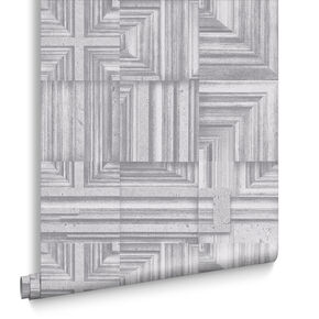 Labyrinth Gray Wallpaper, , large