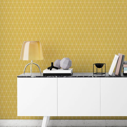 Triangolin Mustard Wallpaper, , large