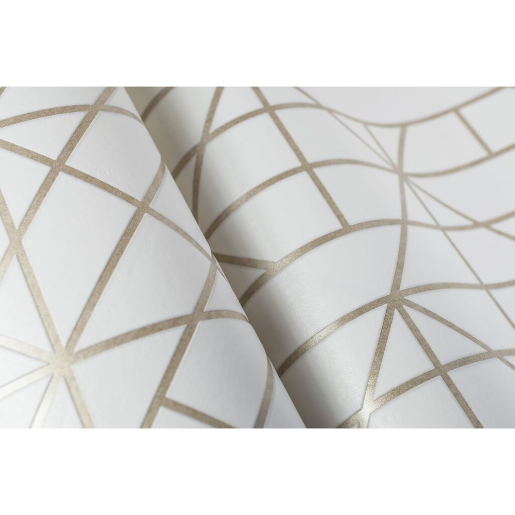 Linear Gold Wallpaper, , large