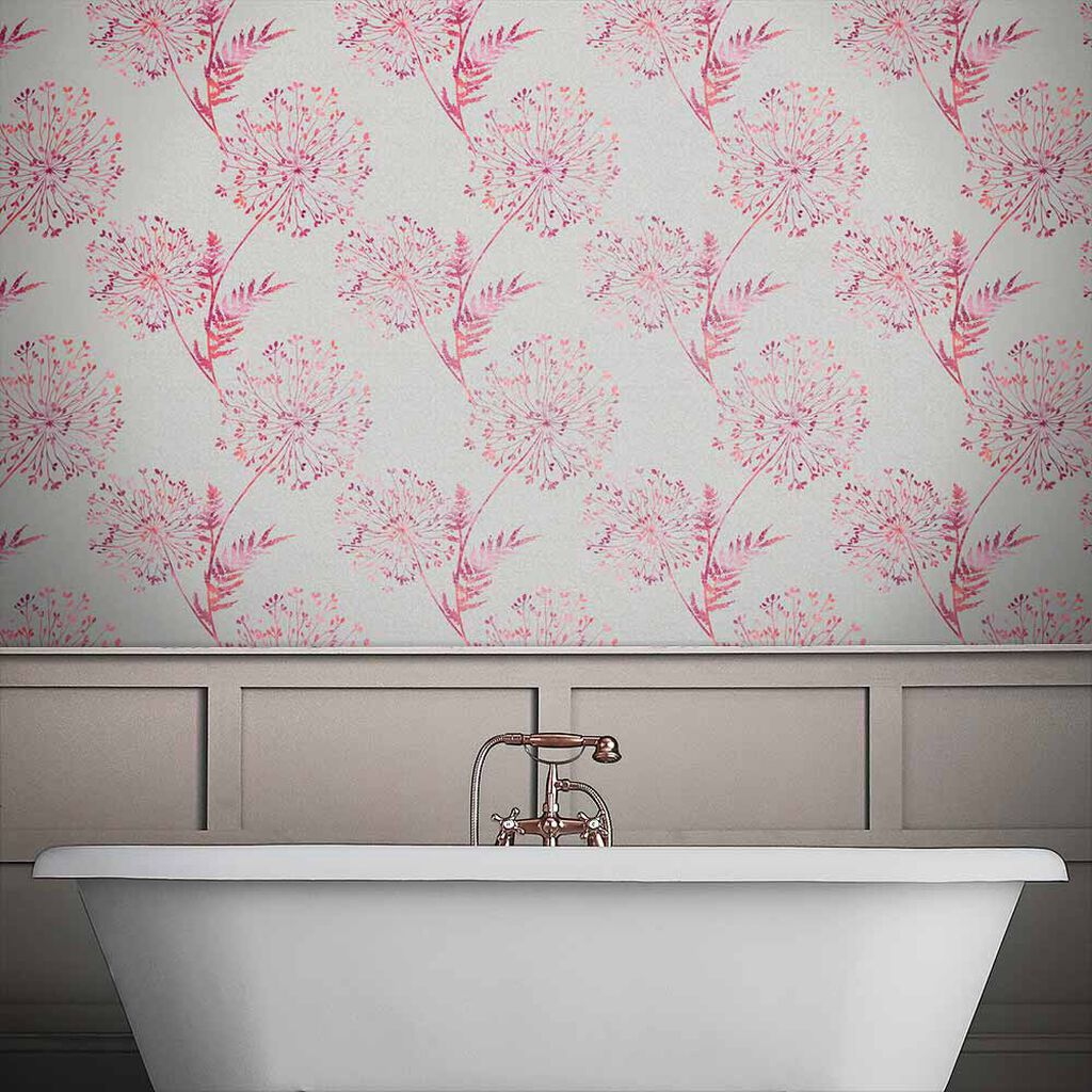 Wish Fire Taupe Wallpaper, , large