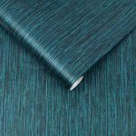 Grasscloth Texture Teal Wallpaper