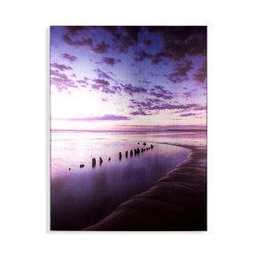 Metallic Serenity Shores Printed Canvas Wall Art, , large