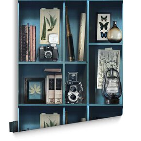 Curiosite Biblio Blue Wallpaper, , large