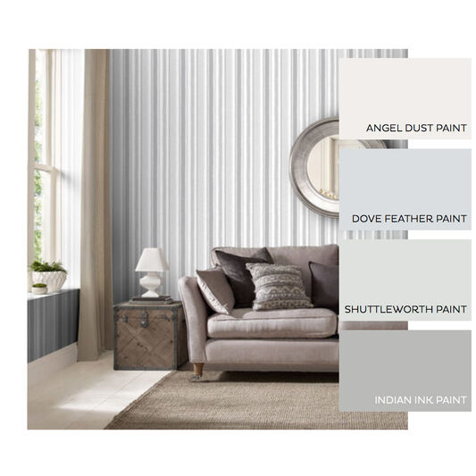 Indian Ink Stripe Gray Mist Wallpaper , , large