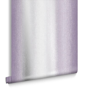 Wild Flower Stripe Plum Wallpaper, , large