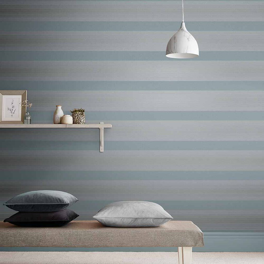 Lagom Stripe Deep Sky Behang, , large
