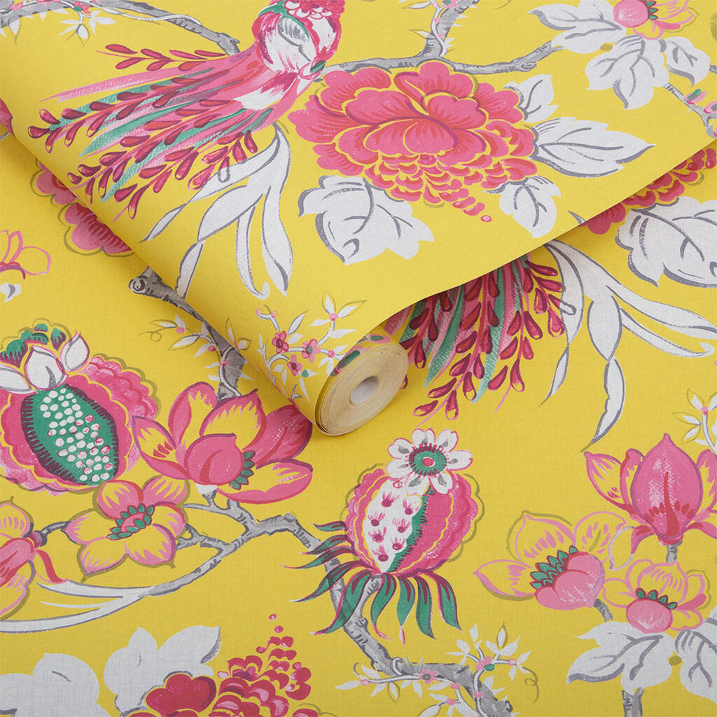 Chinoiserie Canary Wallpaper, , large