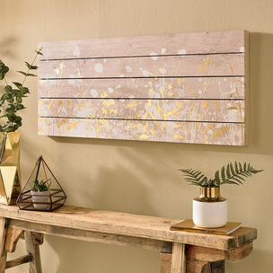 Metallic Meadow Druck auf Holz, , large
