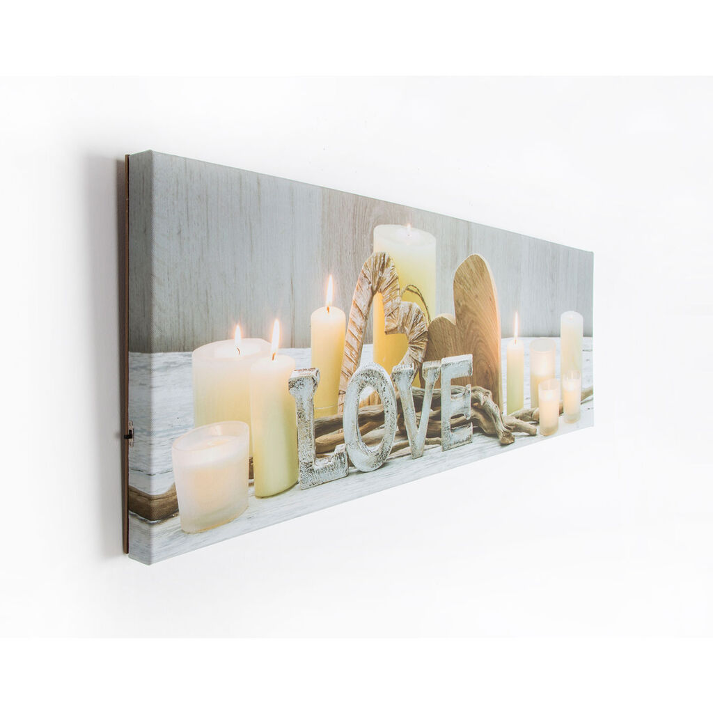 Love Led Printed Canvas Wall Art - GrahamBrownAU