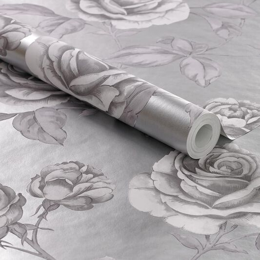 Countess Silver Wallpaper, , large