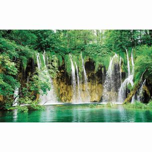 Tropical Waterfall Wall Mural, , large