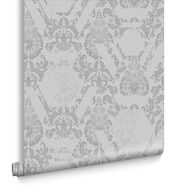 Geo Damask Mist Wallpaper, , large
