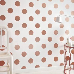 Dotty Rose Gold Wallpaper, , large