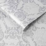 Geo Damask Mist Wallpaper