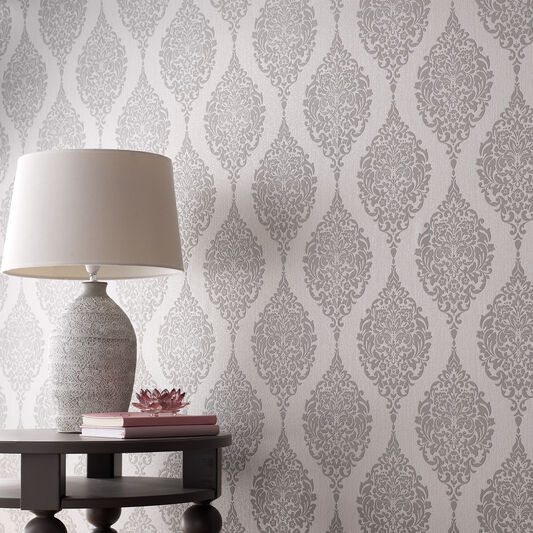 Luna Grey Wallpaper, , large