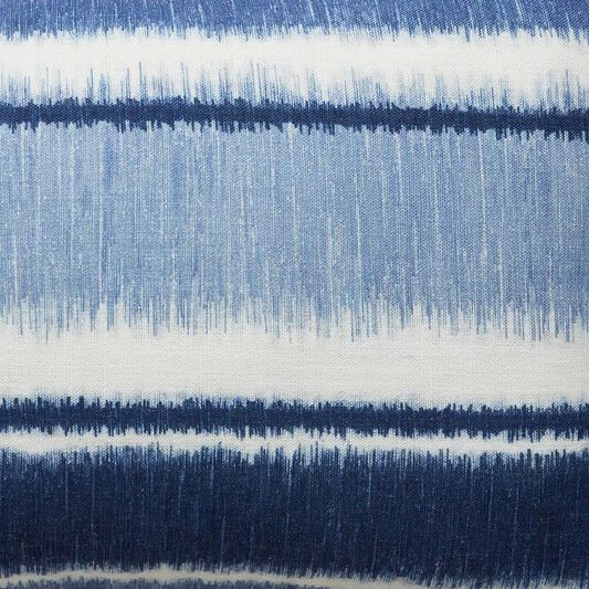 Ikat Stripe Blue Cushion, , large