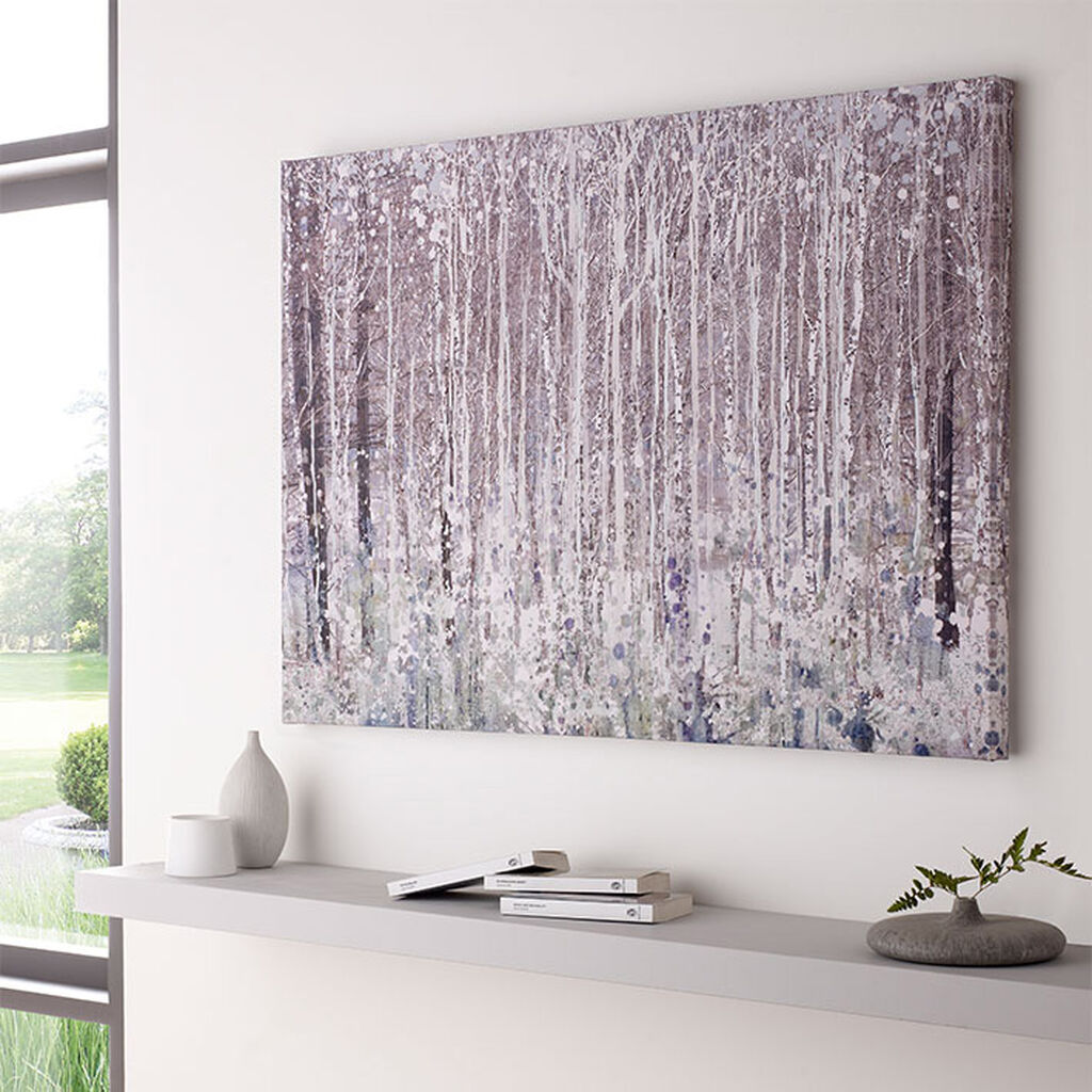 Watercolour Woods Printed Canvas Wall Art, , large