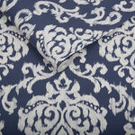 Indian Ink Damask Royal Blue Wallpaper