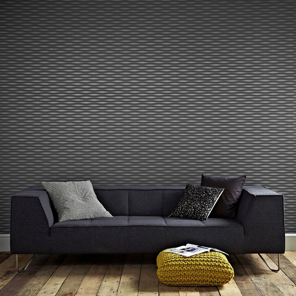 Lucid Charcoal Wallpaper, , large