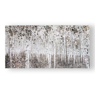 Neutral Watercolour Woods Printed Canvas, , large