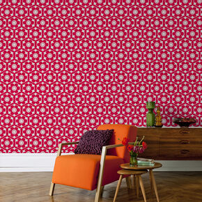 Funky Flora Candy Pink Wallpaper, , large
