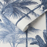 Papier Peint Jungle Bleu de Cobalt