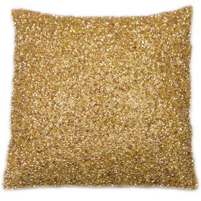 Glimmerous Gold Beaded Kissen, , large