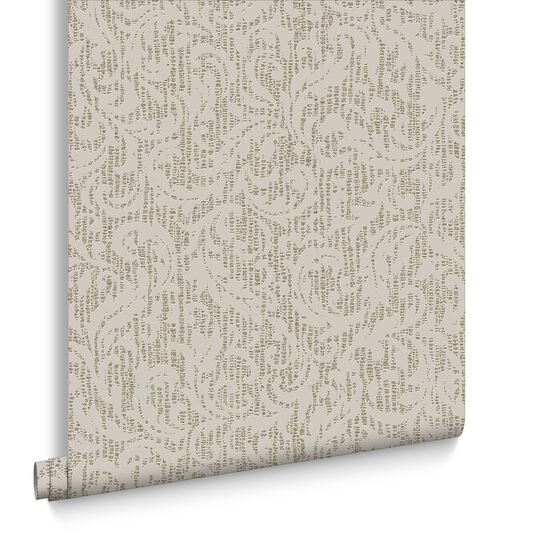Cashmere Cream and Gold Wallpaper, , large