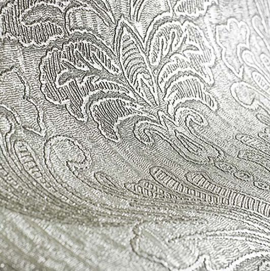 Corsetto Damask Taupe Wallpaper, , large