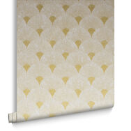 Fan Gold and Pearl Wallpaper, , large