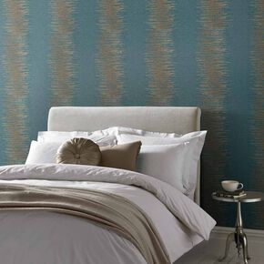 Tornado Stripe Teal Wallpaper, , large