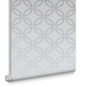 Eternity White & Silver Behang, , large